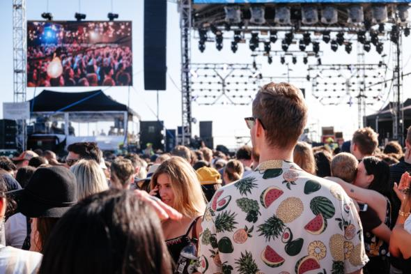 Image of people at a music festival