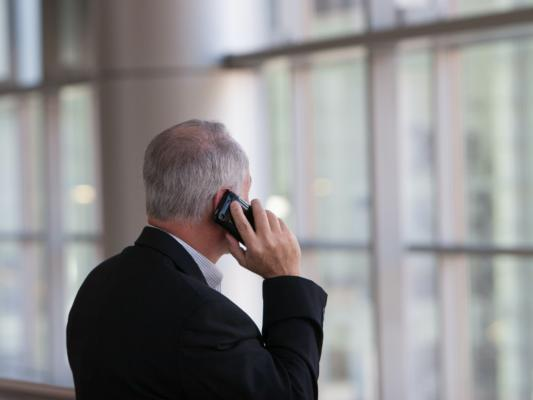 person talking on a phone