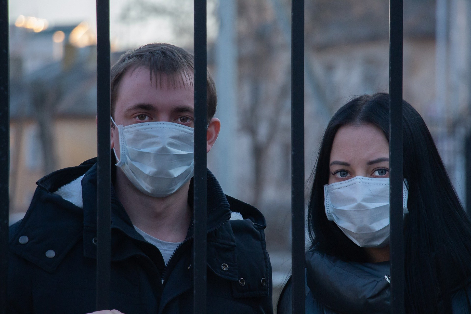 teens wearing mask